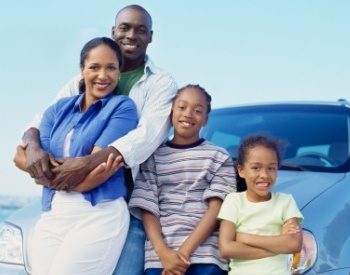 black family with extended car warranty insurance